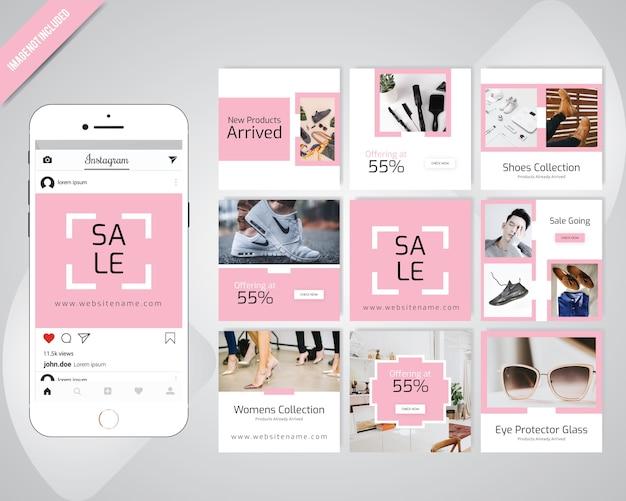 Fashion winter social media post template Premium Vector