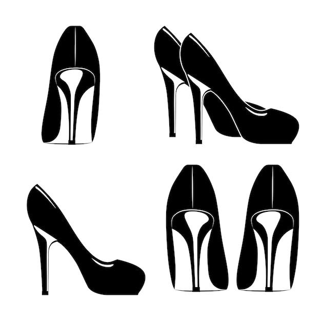Fashion women's shoes design Premium Vector