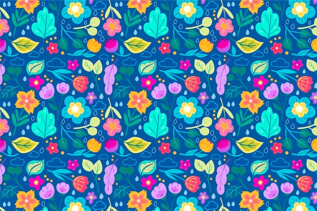 Fashionable pattern in ditsy small flowers Free Vector