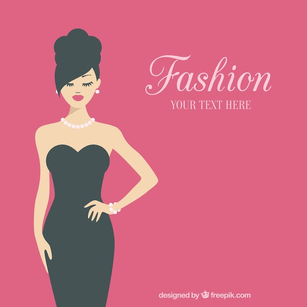Fashionable woman template Premium Vector