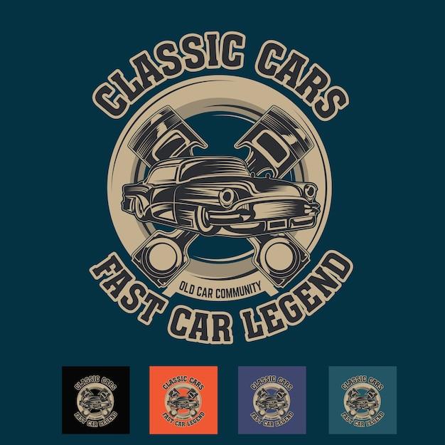 高速クラシックカー Premiumベクター
