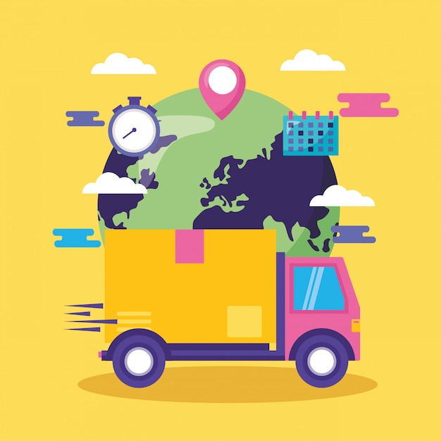 Fast delivery concept Free Vector
