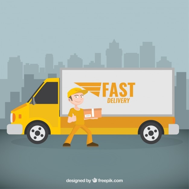 delivery truck vector - photo #27