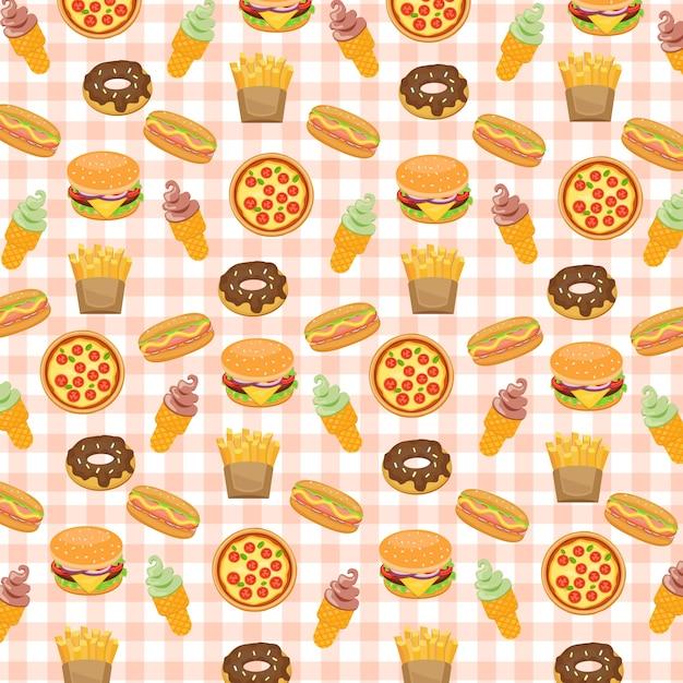 Food Background fast food background. vector | premium download
