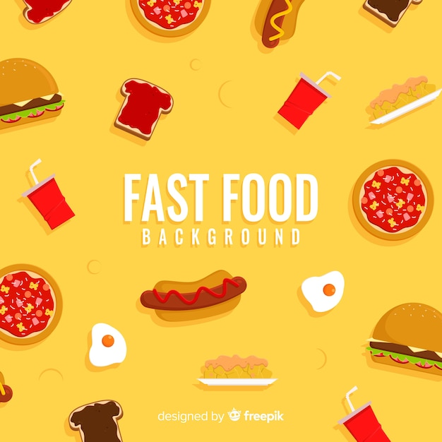 Fast food background Free Vector