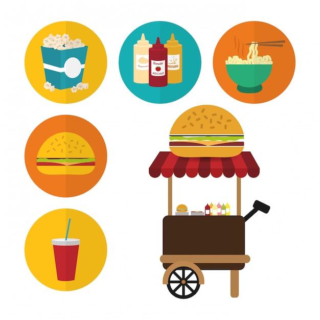 Fast food design Premium Vector
