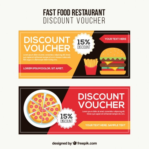 Great Fast Food Discount Voucher Free Vector On Free Discount Vouchers