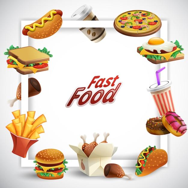 Рамка быстрого питания Бесплатные векторы