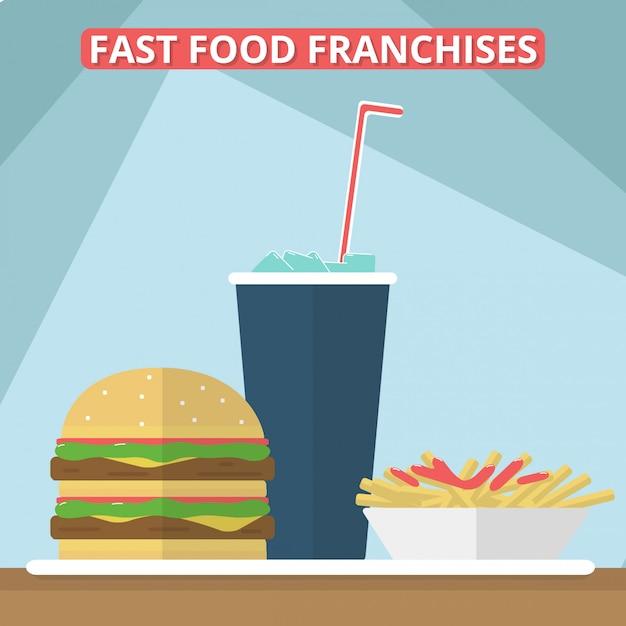 Fast food franchises Premium Vector