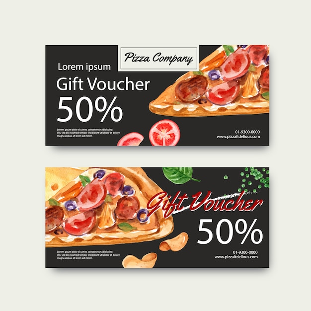 Fast food gif voucher discount order menu appetizer food Free Vector