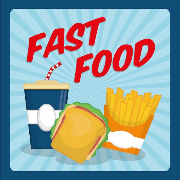 Fast food icon design Premium Vector
