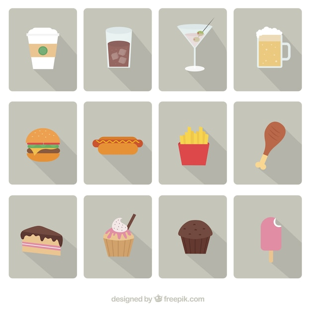 Fast Icon Vector Fast Food Icons Vector Set