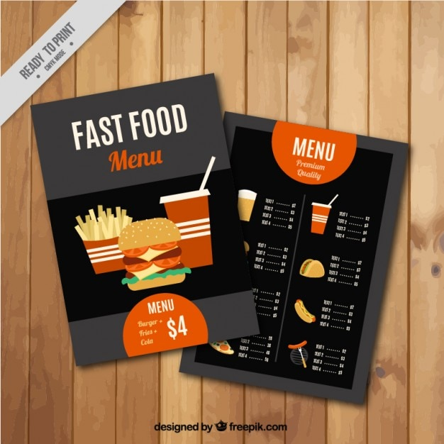 Fast food menu template Images Page – Food Menu Template