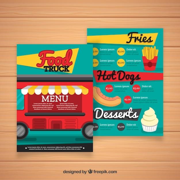 Fast food menu template