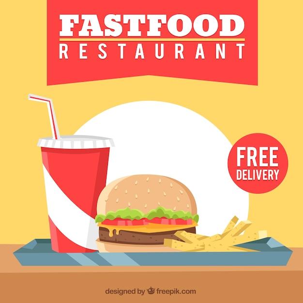 Fast food restaurant background