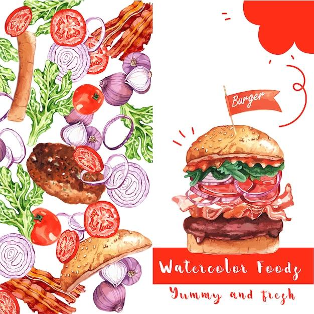 Fast food restaurant card Free Vector