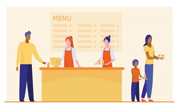 Bancone ristorante fast food Vettore gratuito