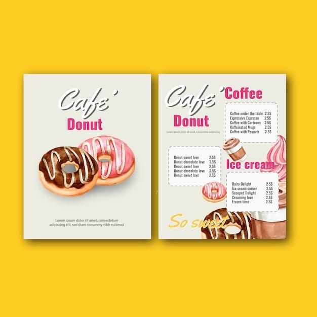 Fast food restaurant menu. frame border menu list ...