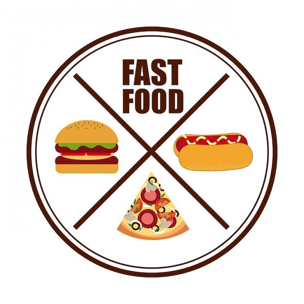 Fast food Premium Vector