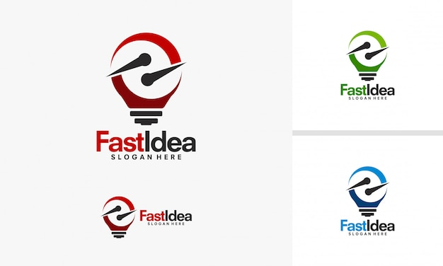 Fast idea logo designs Premium Vector