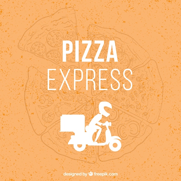 Fast pizza logo Free Vector