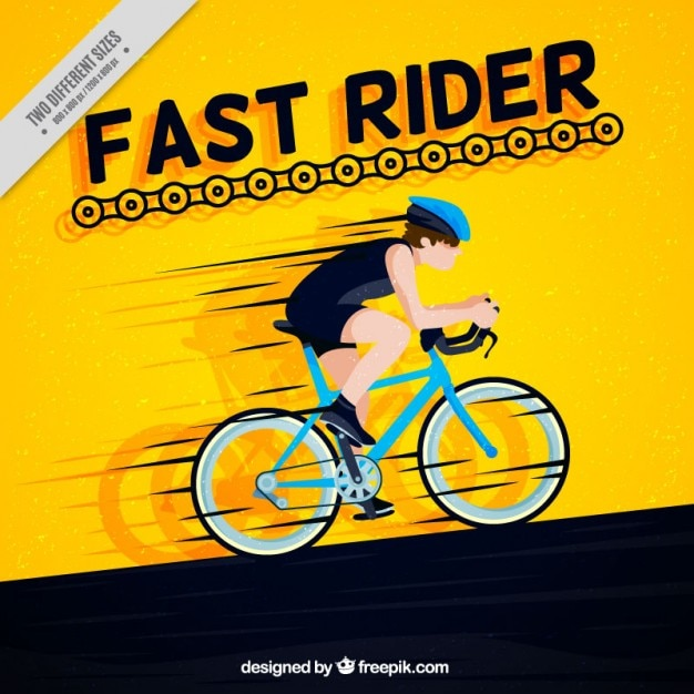 Fast rider Free Vector