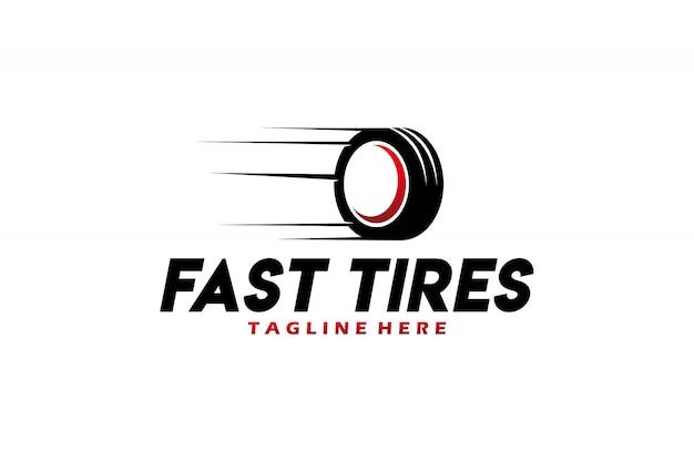 分離された高速タイヤのロゴのベクトル Premiumベクター