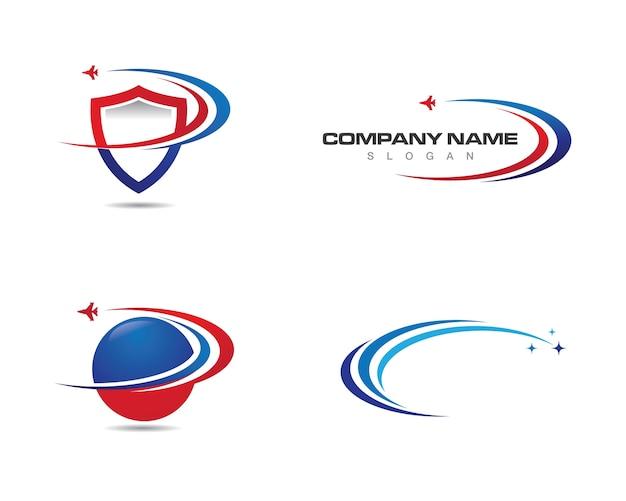 Faster logo template vector Premium Vector