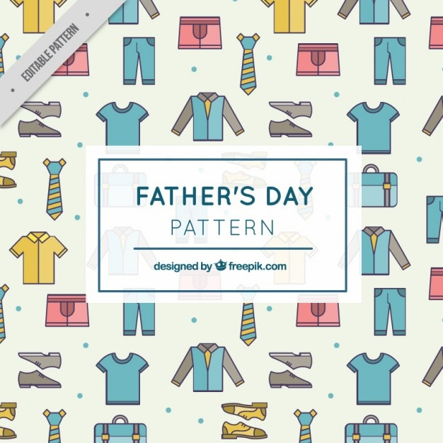 Father clothes pattern Free Vector