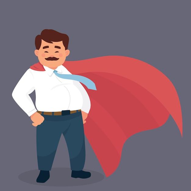 Father hero Premium Vector