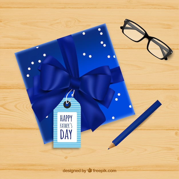 Father\'s day background with gift box