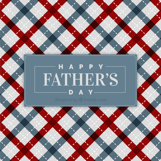 Father's day background with lines patter Free Vector