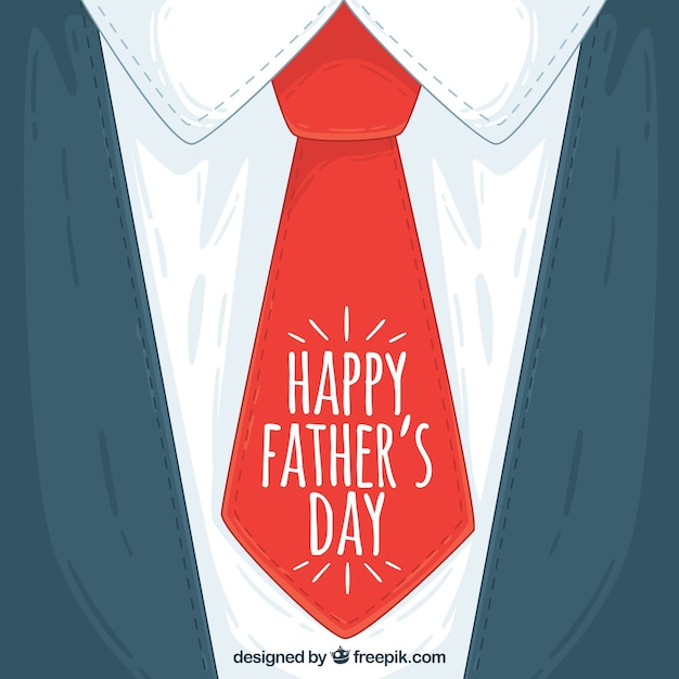 father s day background with red necktie