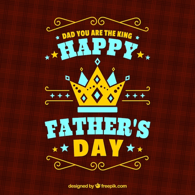 Father's day background with red pattern Free Vector