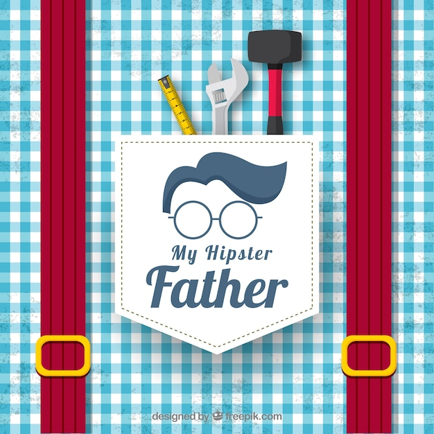 Father's day background with shirt pattern Free Vector