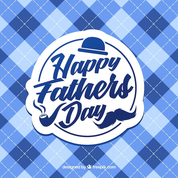 Father's day background with squares pattern Free Vector