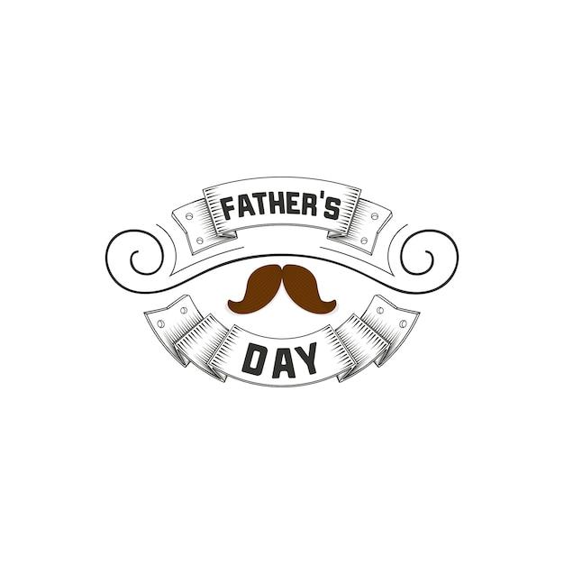 Father's day badge design Premium Vector
