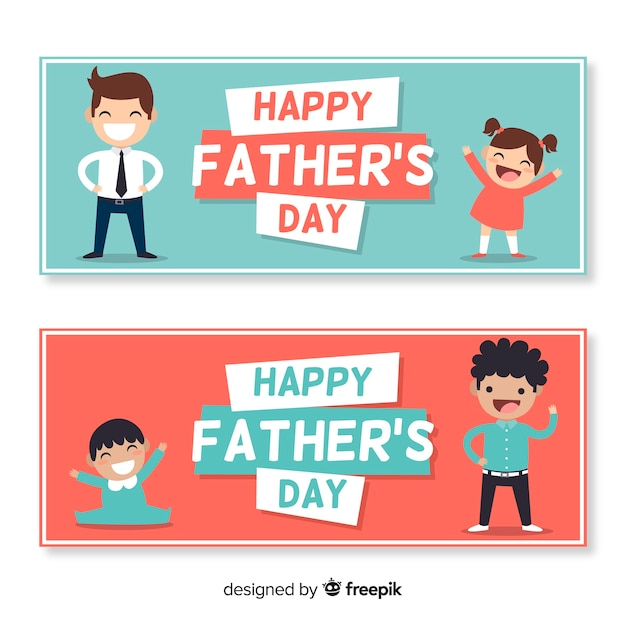 Father's day banner Free Vector