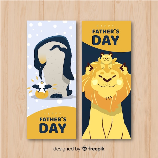 Father's day banners Free Vector