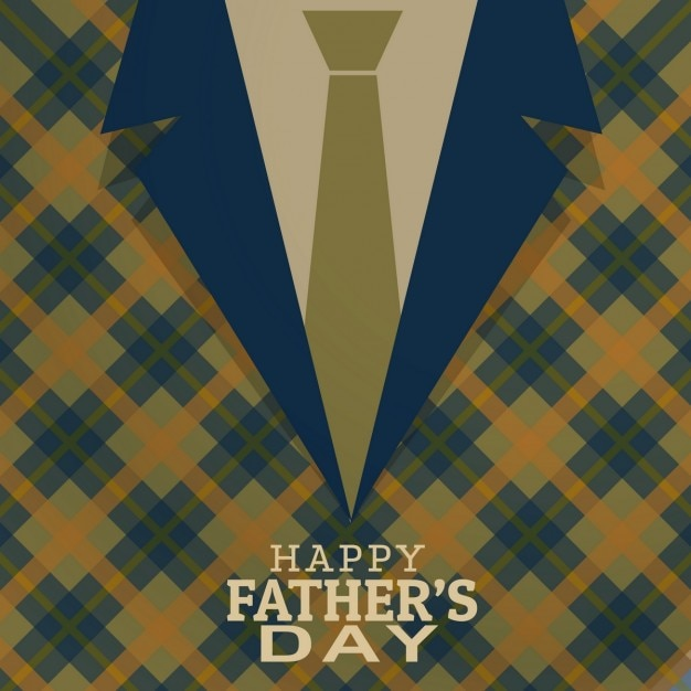 Father\'s day card in vintage design