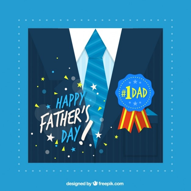 Father\'s day card with a suit