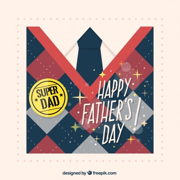 Father\'s day card with rhombus jersey