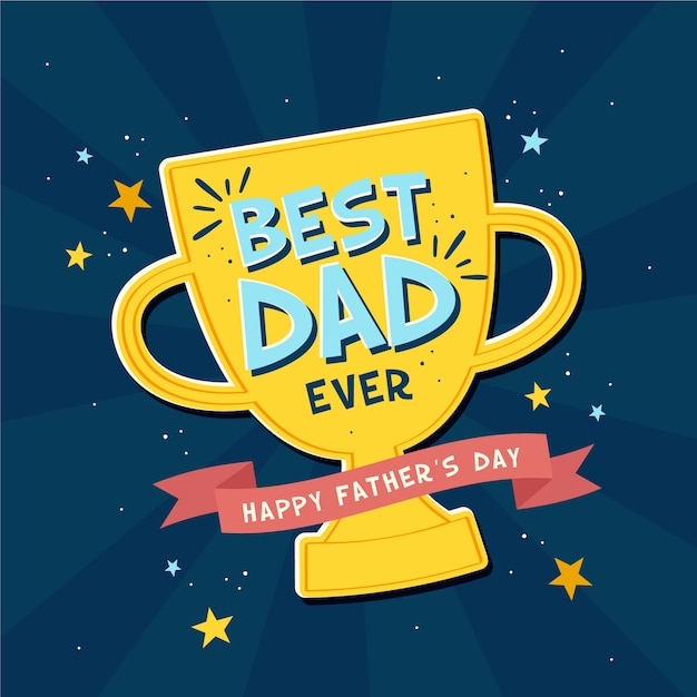 Father's day concept in flat design Free Vector
