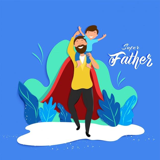 Father's day concept. Premium Vector