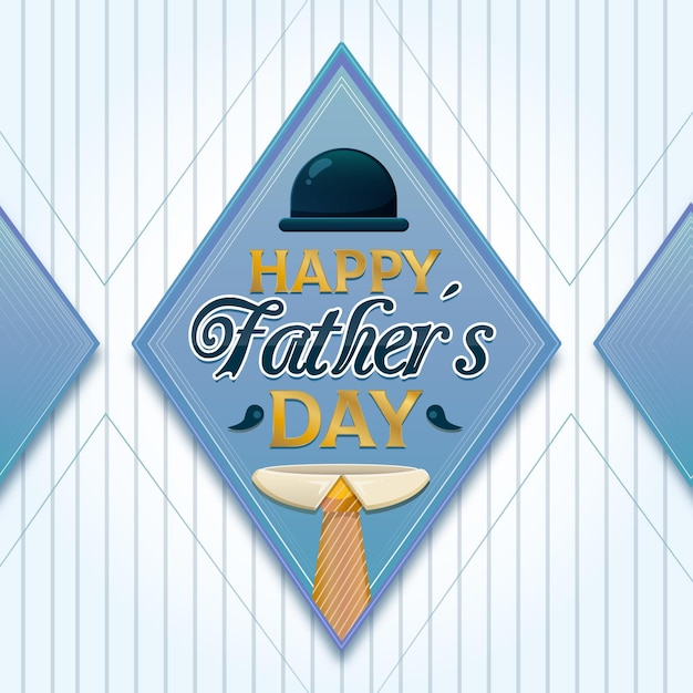 Father's day concept Free Vector