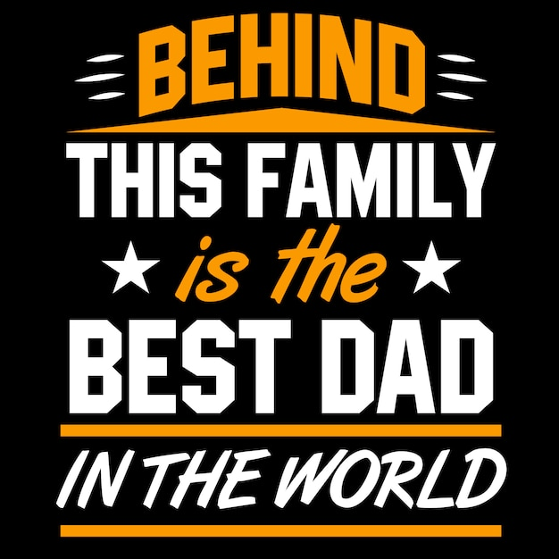 Father's day lettering Premium Vector
