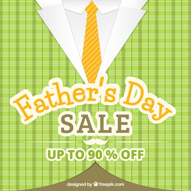 Father's day sale background with pattern Free Vector