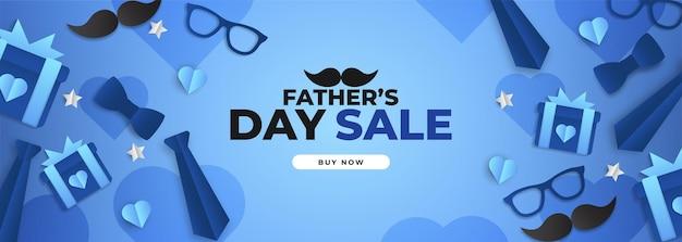 Плакат на день отца с очками, галстуком и подарками Premium векторы