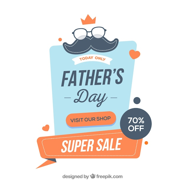 ecb5e209d6a95 Father s day sale template in flat style Free Vector
