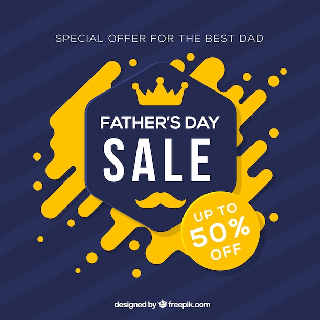 Father's day sale template with abstract shapes Free Vector